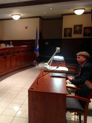 Madison County Sheriff John Mehr addresses the Jackson City Council in 2016 regarding the TBI's new facility that will be built in Jackson.
