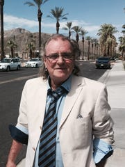 British rocker Terry Reid, hanging out on the streets of Rancho Mirage.