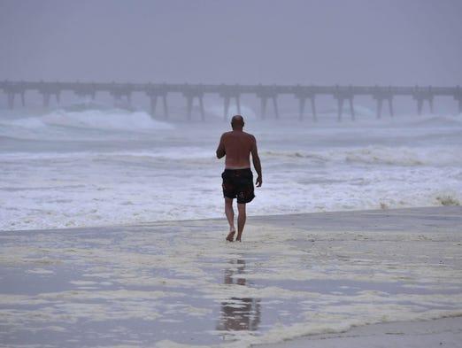 Pensacola Beach as dawn breaks over the Gulf Coast. The beaches on Florida's west coast are always a good getaway.