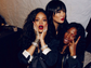 Rihanna captures a moment with some pals backstage