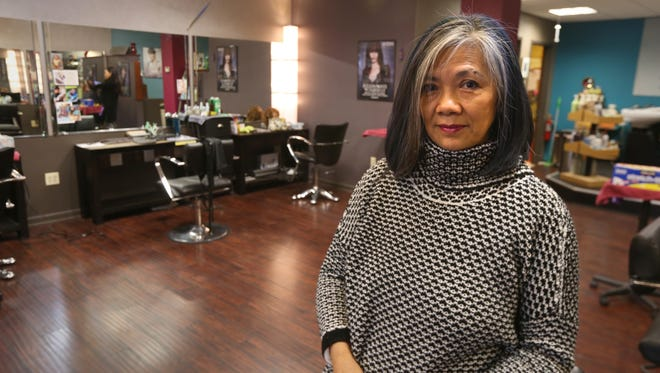 Chi Wah Soo poses in her Chi Wah Organica salon in Brighton on Jan. 19 2017.