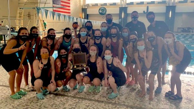 The West Ottawa girls swim team won the OK Red Conference title on Saturday at Jenison.