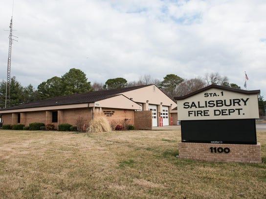 Salisbury Fire Department Station 1 on Beaglin Park Drive.