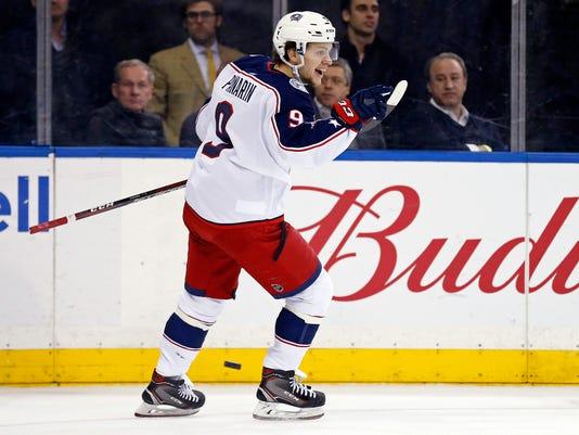 USP NHL: COLUMBUS BLUE JACKETS AT NEW YORK RANGERS S HKN NYR CBJ USA NY