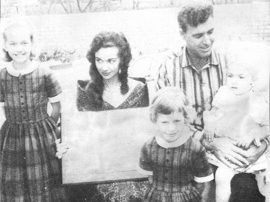 The Hortons in 1960. In this  undated photo from 1960, showing from left, Jeri Horton, Billie Jean Horton, Johnny Horton and Melody Horton, and in front, Yanina Horton.