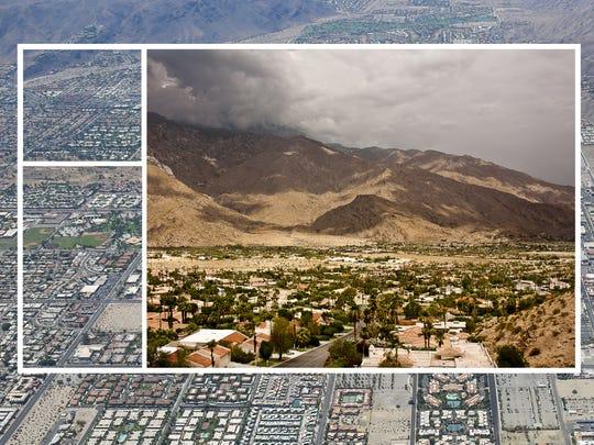A birds-eye view of south Palm Springs.