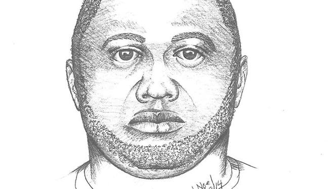 The sketch of the suspect from the alleged groping incident in Wyoming.
