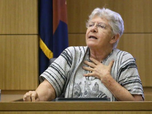 Poll worker testifies