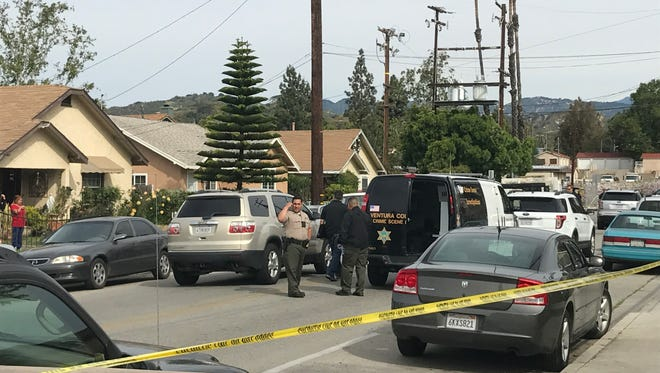 Parts of Ventura Street in Santa Paula were cordoned off Sunday morning after an officer-involved shooting along the 100 block of East Ventura Street.