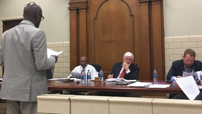 Different groups pitch the Montgomery City Council for funds on Tuesday, Feb. 20, 2018 in Montgomery, Alabama.