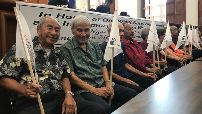 Chamoru war survivors unveiled concept models for Manenggon Memorial Foundation monuments to be constructed next year.
