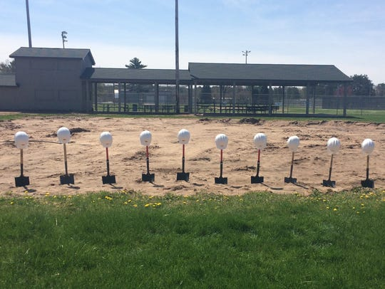 Shovels ready for the groundbreaking Wednesday on a