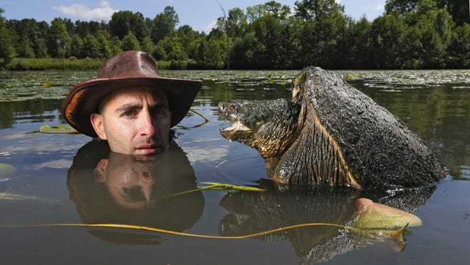 """Coyote Peterson, an Ohio State University graduate, is offering kids two ways to enjoy """"virtual camp"""" sessions this summer."""