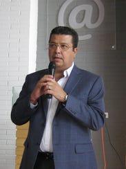 Jarez Mayor Armando Cabada at press conference before