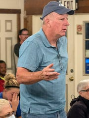 Utica resident Bob Hill voiced his opposition on Tuesday night to the proposed billboards along I-265 near the Lewis & Clark Bridge. 10/10/17