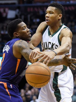 Giannis Antetokounmpo and Eric Bledsoe are not teammates on the Bucks.