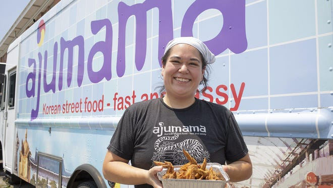 Laura Lee. owner of the the Ajumama food truck. [Tim Johnson/Alive\