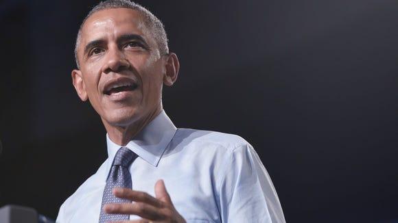 US President Barack Obama speaks at Macomb Community College in Warren, Michigan on September 9, 2015. (Mandel Ngan, AFP/Getty Images)