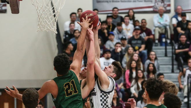 Rancho Mirage and Schurr basketball action on Tuesday, February 21, 2017 in Rancho Mirage.