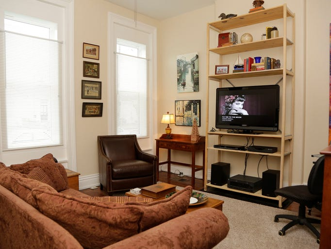 This is the living room of Vance Peers home owner in the 700 block of East Kentudky Street. March 27, 2014 cj living room