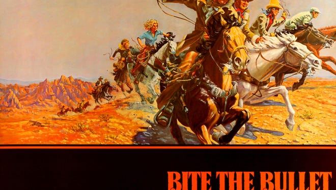 """""""Bite the Bullet"""" (1975), starring Gene Hackman, James Coburn, Ben Johnson and Candice Bergen.  Written and directed by Richard Brooks. Filming locations in New Mexico include Carson National Forest, Chama, Taos and White Sands."""