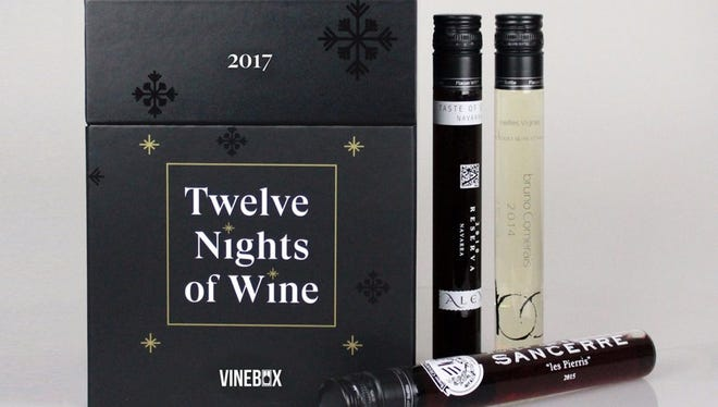 Vinebox's 12 Night of Wine advent wine calendar will be available soon.