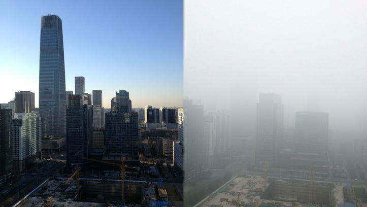 A Smoggy Sunday in Beijing