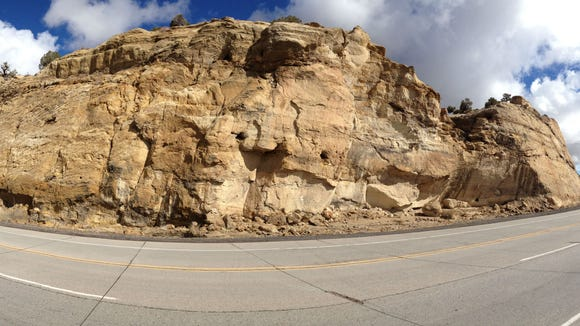 The Bisti Highway weaves into the bluffs and gets you close enough to see the texture of the sandstone. (Molly Maxwell/Special to The Daily Times)