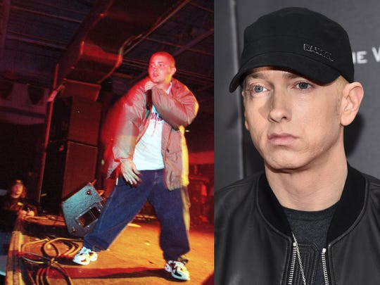Eminem, in September 1997 and  and July 2017