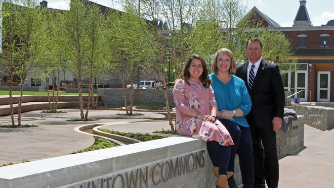Paula Atkins, Norman Quirion and Deanna McLaughlin at Downtown Commons on Wednesday, April 18.