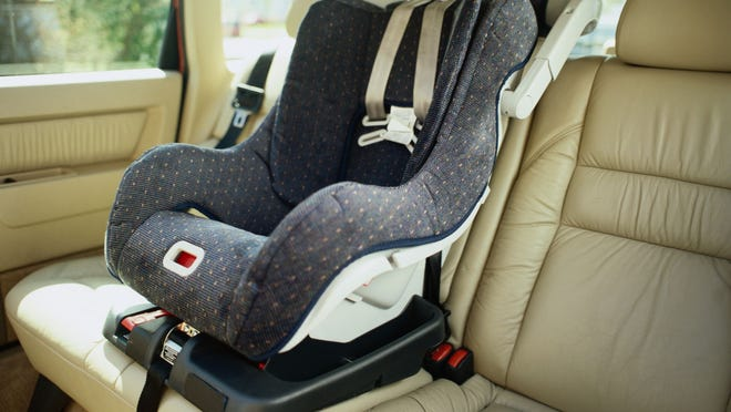 A woman's Facebook post has gone viral after she was in a terrible wreck that left her car totaled, but the car seats appear untouched. She and her children are fine.