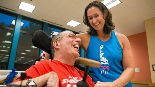 Wilmington runner Christina Richter has a history of running for charitable causes. This fall, she'll run the NYC Marathon for 261 Fearless, Kathrine Switzer's charity. She has often run pushing long-time friend Bill Bancroft in his wheelchair.
