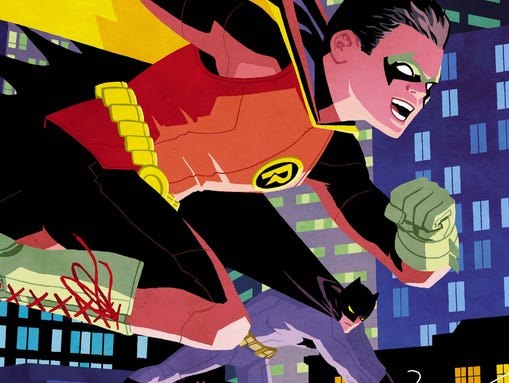 """Damian Wayne and his dad reunite in the pages of """"Robin"""