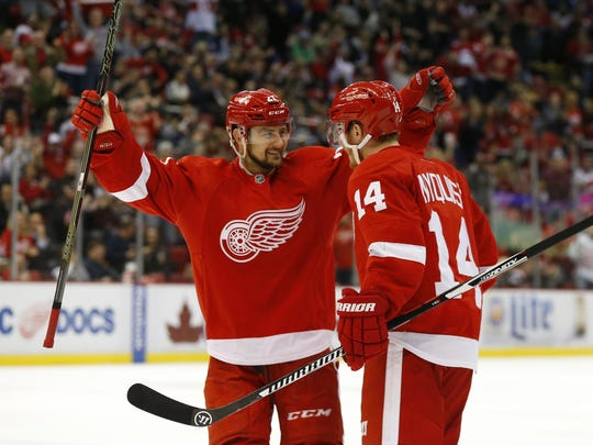 The Red Wings have 10 picks in the 2019 draft partly thanks to cashing in on trades involving Tomas Tatar, right, and Gustav Nyquist.