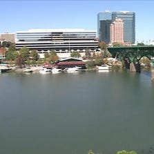 A view of downtown Knoxville, including the City County Building, from South Knoxville