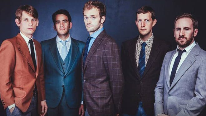 Noam Pikelny, second from left, says being in Punch Brothers is being in his dream band.