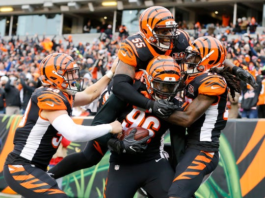 The Cincinnati Bengals defense jumps on the back of