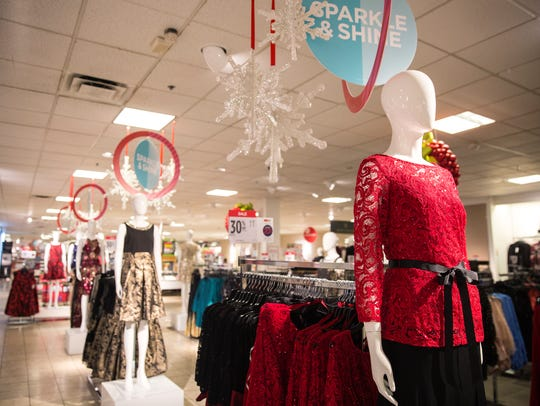 Black Friday deals and holiday shopping displays filled