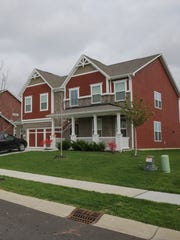 Homes line the streets in the Keeneland Park, development