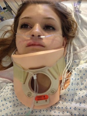 Makenzie Wethington, 16, is in the intensive care unit of an Oklahoma City hospital after she was seriously injured when her parachute failed to fully deploy after a jump in Chickasha, Okla., on Saturday, Jan. 25, 2014.