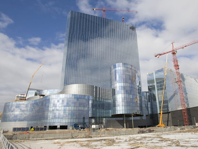 The unfinished Revel Casino on the AC boardwalk in 2008.
