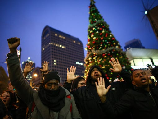 Protesters of a grand jury's decision not to indict