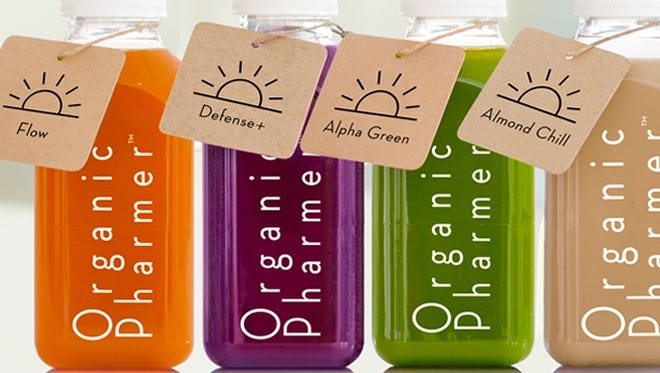 Juices at the Organic Pharmer