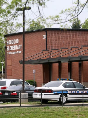 Ten children, all younger than 13, were arrested April 15, 2016, at Hobgood Elementary School in Murfreesboro, Tenn., after police saw video of an earlier neighborhood fight on social media.
