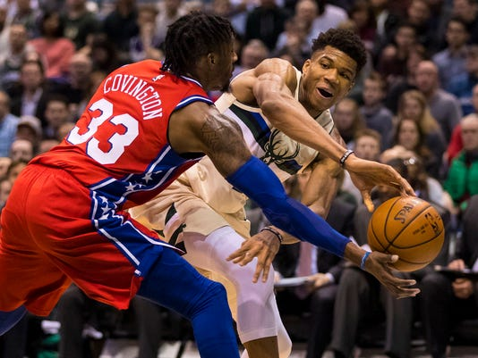 NBA: Philadelphia 76ers at Milwaukee Bucks