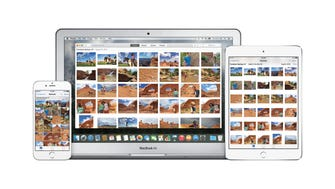 Apple's new Photos app syncs images from multiple devices.