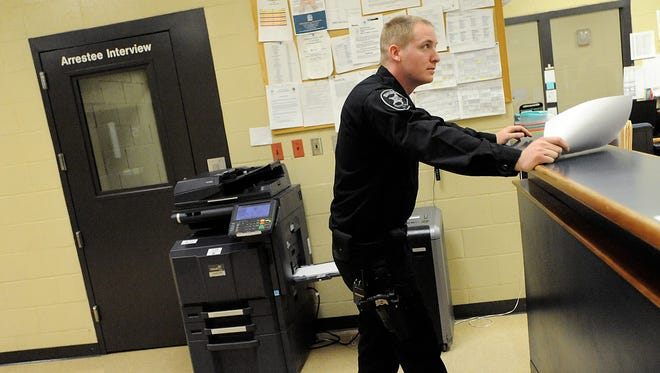 CERT member Deputy Joshua Sexton works a shift at the Bossier Sheriff's Office Maximum Security Facility in Plain Dealing.