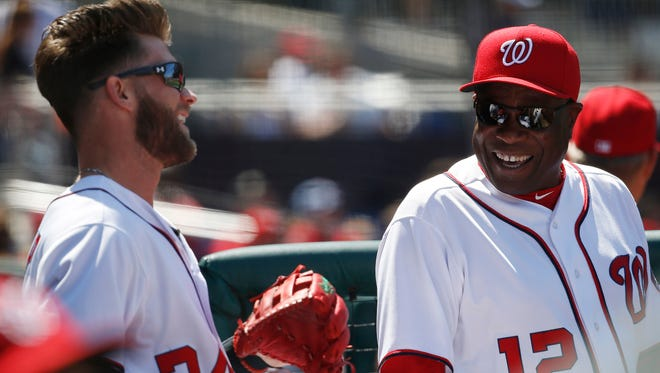 Nationals manager Dusty Baker anticipates Bryce Harper will see fewer good pitches to hit.
