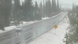 Santiam Pass is expected to get additional snow this week.