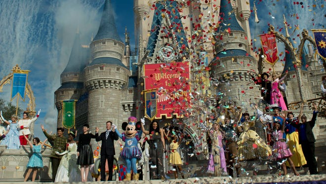 """Thursday morning, Walt Disney World Resort cast members from the countries of Epcot will belt out """"It's a Small World"""" in front of Cinderella Castle during a """"live global sing-along"""" on ABC's """"Good Morning America."""""""